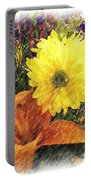 Flowers With Love Portable Battery Charger