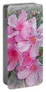 Flowers With Maya Angelou Verse Portable Battery Charger