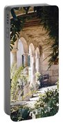 Flowery Majorquin  Patio In Valdemosa Portable Battery Charger