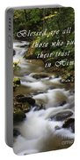 Flowing Creek With Scripture Portable Battery Charger