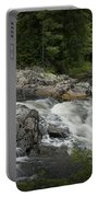 Flowing Stream With Waterfall In Vermont Portable Battery Charger