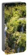 Flowing Water On Falling Lakes Of Plitvice Portable Battery Charger