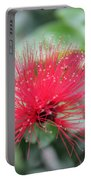 Fluffy Pink Flower Portable Battery Charger
