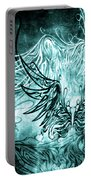 Fly Away Gothic Aqua Portable Battery Charger