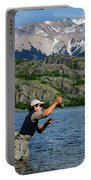 Fly Fishing In Patagonia Portable Battery Charger