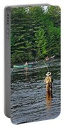 Fly Fishing West Penobscot River Maine Portable Battery Charger