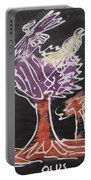 Flying Birds On The Big Tree Portable Battery Charger