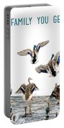 Flying Ducks And A Friends Quote Portable Battery Charger