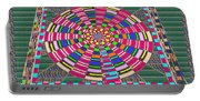 Focus Target Yoga Mat Chakra Meditation Round Circles Roulette Game Casino Flying Carpet Energy Mand Portable Battery Charger