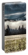 Fog Beyond The Tilled Field  Portable Battery Charger