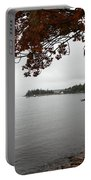 Foggy Autumn Day Portable Battery Charger