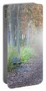 Foggy Autumn Morning Portable Battery Charger