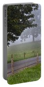 Foggy Country Lane Portable Battery Charger
