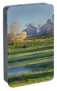 Foggy Farm Morning Portable Battery Charger