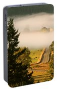 Foggy Morning Drive Portable Battery Charger