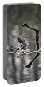 Foggy Morning Pondscape Portable Battery Charger