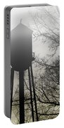 Foggy Tower Silhouette Portable Battery Charger