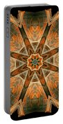 Folded 8-pointed Kaleidoscope Image Portable Battery Charger