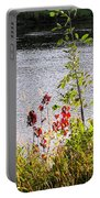 Foliage Along Iowa River Iowa City Ia Portable Battery Charger