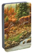 Whitetail Deer - Follow Me Portable Battery Charger by Crista Forest