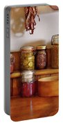 Food - I Love Preserving Things Portable Battery Charger by Mike Savad