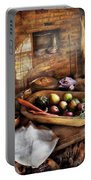 Food - The Start Of A Healthy Meal  Portable Battery Charger by Mike Savad