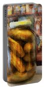 Food - Vegetable - A Jar Of Pickles Portable Battery Charger