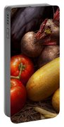 Food - Vegetables - Peppers Tomatoes Squash And Some Turnips Portable Battery Charger by Mike Savad