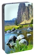 Footbridge At Smith Rock Portable Battery Charger