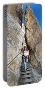 Footbridge On Via Ferrata Portable Battery Charger