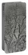 For The Love Of Trees - 2 - Monochrome  Portable Battery Charger