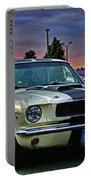 Ford Mustang At Sunset Portable Battery Charger