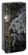 Forest In Winter Portable Battery Charger