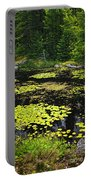 Forest Lake With Lily Pads Portable Battery Charger