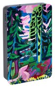 Forest Path In Summer Portable Battery Charger