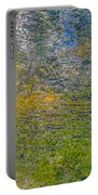 Forest Reflection Portable Battery Charger by Roxy Hurtubise