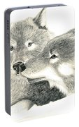 Forever Wolf Love-the Greeting Portable Battery Charger