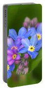 Forget-me-not Stylized Portable Battery Charger