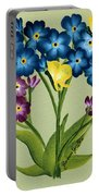 Forget Me Nots And Butterflies Portable Battery Charger