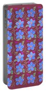Forgetmenot Pattern On Marsala In Square Portable Battery Charger