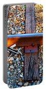 Forgotten - Abandoned Shoe On Railroad Tracks Portable Battery Charger