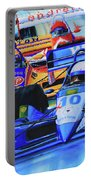 Formula 1 Race Portable Battery Charger by Hanne Lore Koehler