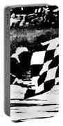 Formula 1 Vintage Checkered Flag Portable Battery Charger