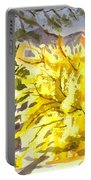 Forsythia In Springtime Portable Battery Charger