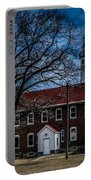 Fort Gratiot Lighthouse And Buildings With Clouds Portable Battery Charger