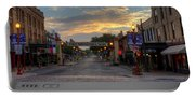 Fort Worth Stockyards Sunrise Portable Battery Charger