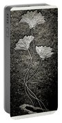 Fossilized Flowers Portable Battery Charger