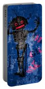 Foundation Number 102 Robot Graffiti  Portable Battery Charger by Bob Orsillo