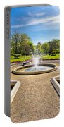 Fountain And Park In Zagreb Portable Battery Charger