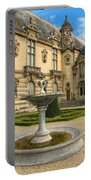 Fountain At Chateau De Chantilly Portable Battery Charger